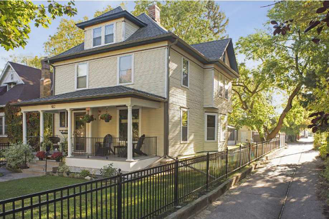 The main elements of the american foursquare home style » arrow hill