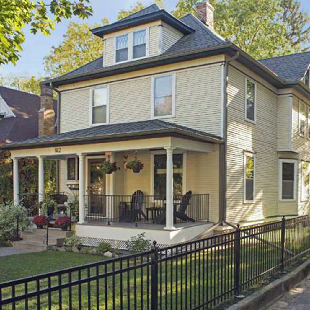 The Main Elements Of American Foursquare Home Style Arrow Hill Cottage